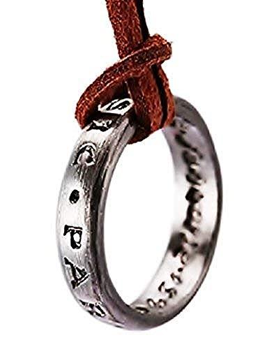 Lovelegis Collar para Hombres y Mujeres - Anillo - inexplorado 4 - Nathan Drake - sic Parvis Magna Idea - Regalo - Color Plata