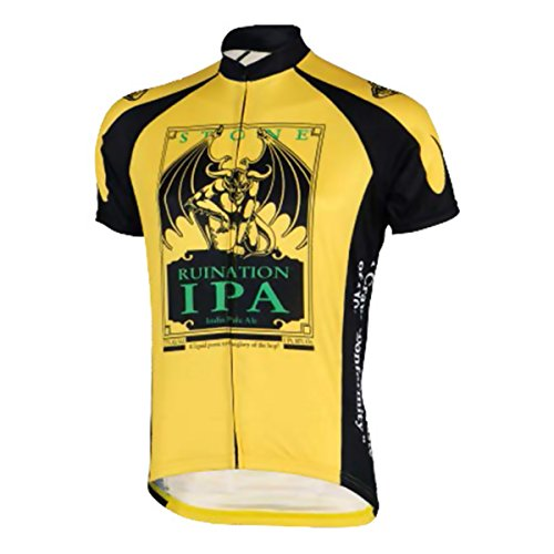 Canari Cyclewear Men's Stone Brewing Ruination IPA Jersey, Yellow, Small