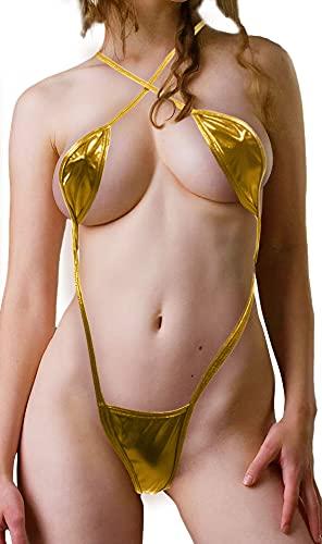 Microkini Trikini Gold Gold