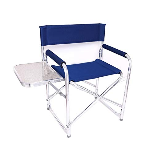 WTDlove Folding Camping Chairs For Adults With Side Table, Sturdy Heavy Duty Portable Outdoor Director Chair For Lawn And Sports With Cup Holder, Heavy Duty Supports 300 Lbs (Color : C)