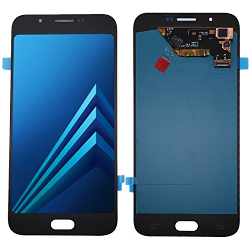 Compatibele Vervangings IPartsBuy for Samsung Galaxy A8 Oled Materiaal LCD-scherm + Touch Screen Accessory (Color : Black)