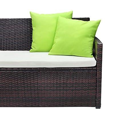 PCAFRS 2-Piece Patio Bistro Outdoor Conversation Backrest Soft Outdoor Garden Furniture Sets. (Green)