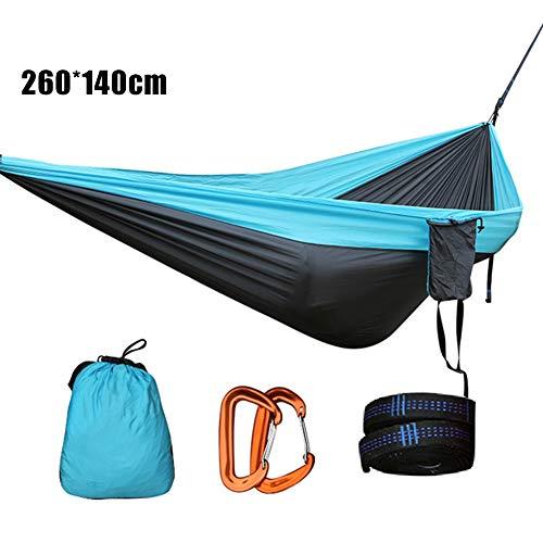 lzndeal Hamac extérieur, Nylon Simple Double Hamac Camping en Plein Air Randonnée Voyage Suspendu Lit De Couchage