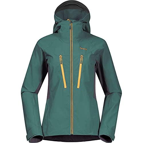 Bergans Damen Cecilie Mountain Softshell Jacke, Forest Frost-Dark Grey-Yellow, X