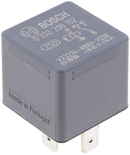 Bosch 0332209152 Mini-Relais 12V 30A, IP5K4, Betriebstemperatur von -40° bis 100°, Wechselrelais, 5 Pin Relais mit Diode