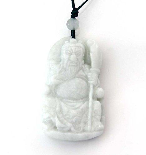 Ovalbuy Licht Kleur Natuurlijke Steen Han Dynastie Hero Guan-gong Mes Amulet Hanger