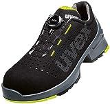 UVEX Low Shoe 65658 Boa S1 Size PU W11, Zapatos de Seguridad y contra Incendios Unisex Adulto, Lime Negro, 45 EU