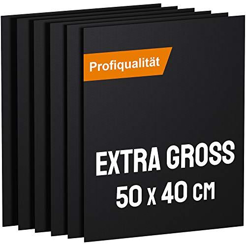 KOMOTO® BBQ Grillmatte (6er Set) 50x40 cm I Extra Dick I Für Gasgrill und Holzkohle