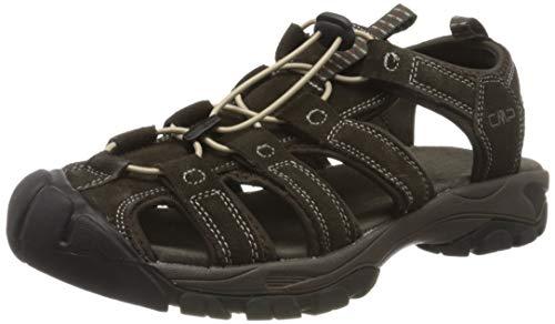 CMP – F.lli Campagnolo Sahiph Leather Hiking Sandal, Arrampicata Uomo, Braun Espresso Q946, 46 EU