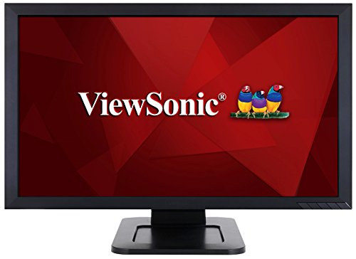 ViewSonic TD2421 24 Inch 1080p Dual-Point Optical Touch Screen Monitor with HDMI and DVI, Black