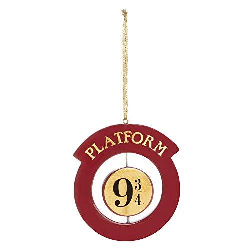 Licensed Adorno para árbol de Navidad con diseño de Plataforma Hogwarts de 9 3/4