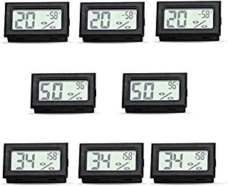 Temperature Humidity Meters Mini Indoor Thermometer Hygrometer LCD Display Fahrenheit (℉) for Humidors, Greenhouse, Garden...