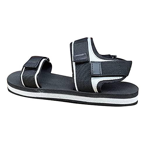 Correa de espalda para mujer y sandalias planas de velcro, zapatos de playa planos con tacón interior, sandalias de plataforma coloridas para mujer, sandalias de playa con viento perfumadas