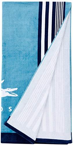 Lacoste Oki Badetuch, Baumwolle, Blaugrün/Blau, 36