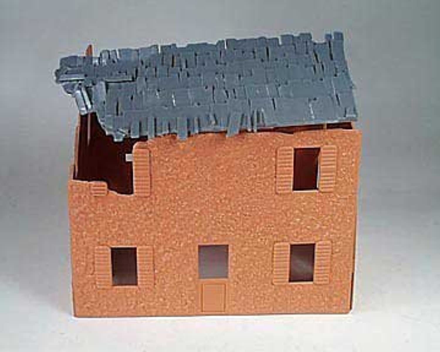 BMC Toys Diorama Accessories  Bombed French Farm House 1 32 Scale for 54mm Plastic Army Men by BMC
