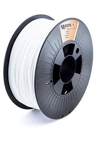 Basicfil PET 1.75mm, 1 kg filamento per stampante 3D, Bianco