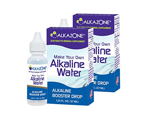 ALKAZONE Make Your Own Alkaline Water - Alkaline Booster Drop 1.25 oz (2 Packs)