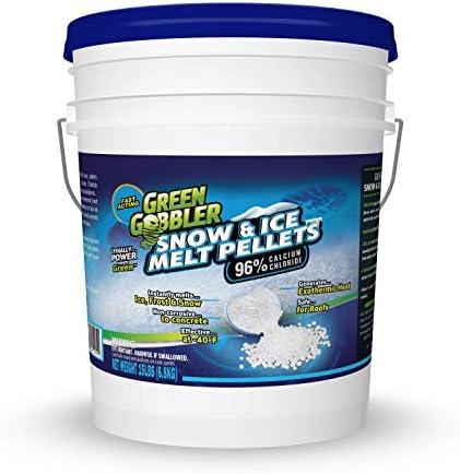 Green Gobbler 96% Pure Calcium Chloride Snow & Ice Melt Pellets   Concrete Safe Ice Melt (35 lb Pail)