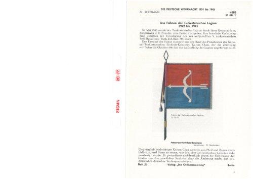 Die deutsche Wehrmacht - Die Fahnen der Turkestanischen Legion 1942 bis 1945