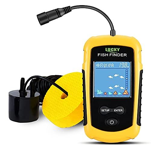 LUCKY Kayak Portable Fish Depth Finder Water Handheld Fish Finder Sonar Castable Kayak Boat...