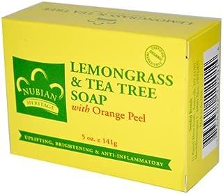 2 Packs of Nubian Heritage Bar Soap Lemongrass And Tea Tree With Orange Peel - 5 Oz