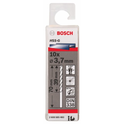Preisvergleich Produktbild Bosch Professional Metallbohrer HSS-G geschliffen (10 Stück,  Ø 3, 7 mm)