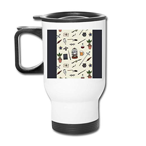 Vaso republicano de búho y varita - Vaso con doble aislamiento - Taza de café de 30 onzas para automóvil, viajes, trabajo