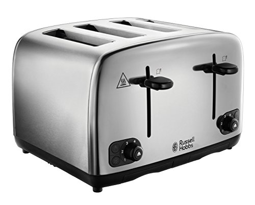 Russell Hobbs 24090 Adventure Four Slice, Brushed Polished Stainless Steel Toaster