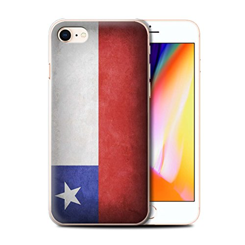 Telefoonhoesje voor Apple iPhone SE 2020 Vlaggen Chili/Chiliean Ontwerp Transparant Helder Ultra Slank Dun Hard Back Cover