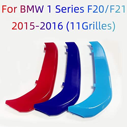 Froggen Adesivo griglia anteriore colore M, 3 Colori clip per griglia a rene, Rene Griglia Radiatore Fibbia decorazioni Per BMW 1 Serie F20 F21 116 118 120 125 135 2015-2016 (11Rod)