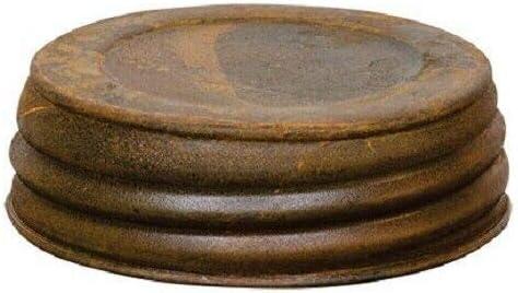 for Rapid rise Quality inspection Two Rust Rustic Metal Regular Woodla Lids Jar Primitive Size