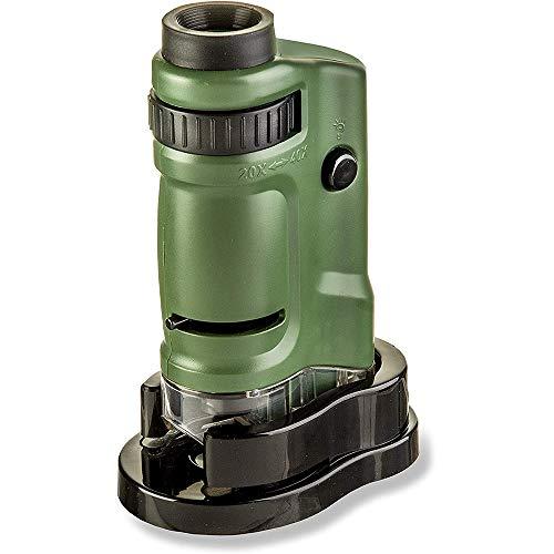 Microscópio de Bolso Carson MicroBrite com LED e ampliação 20x a 40x, MM-24, Verde, Pequeno