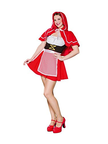 Caperucita Roja Cabo carnaval Mujeres accesorios traje rojo hasta los hombros