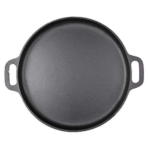 SWJ-Pans Plancha De Hierro Fundido Gruesa Antiadherente Antiadherente Freidora Doméstica Olla De Cocina De Gas Universal,Black-42cm