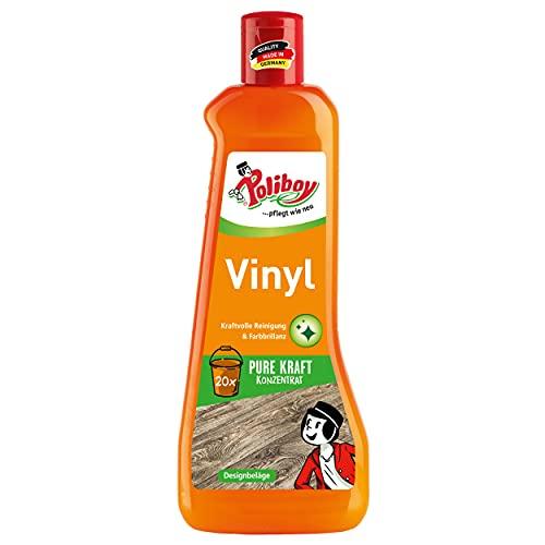 Poliboy - Vinyl & Designbelag Pflege - zur kraftvollen Reinigung von Kunststoffböden - Bodenpflege - Einzeln - 500 ml - Made in Germany