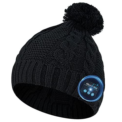 COTOP Gorro Bluetooth, Regalos para Mujeres, Gorro de Invierno con Bluetooth 5.0 para Mujeres, Gorro con música la Mejor Gorro Auriculares micrófono Manos Libres para Correr, Deportes al Aire Libre