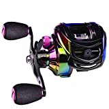 SENDEREAL Baitcasting Reel, Light and Colorful Baitcaster Fishing Reel 22 LB Drag, 9 + 1 Shielded Ball Bearings 10 Gears Magnetic Brake System,7.2:1 Gear Ratios,Right Handed…