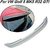 NB-LY Se Adapta a Volkswagen VW Golf 5 MK5 GTI y R32 2005-2009 alerón de Techo Trasero Ventana de ala Superior (FRP)