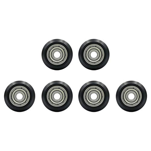 VILLCASE 6 Pcs V Groove Bearings 3D Printer Plastic Pulley Wheels Passive Round Wheel Roller Compatible for Creality Ender Openbuilds Anet A8 5mm