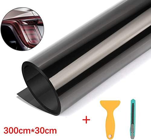 Kaliwa Scheinwerfer Folie Tönungsfolie 300c*30cm Aufkleber Schutzfolie für Auto Rückleuchten Blinker Nebelscheinwerfer Autolampen, aus Vinyl