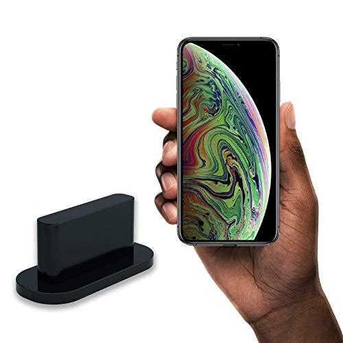 innoGadgets 10x Tapones para el Polvo compatibles con el iPhone 7/8/X/Xs/Xr/11/11Pro/SE/12/12Pro | Tapón para el Polvo | Tapón para el Polvo de Silicona | Negro