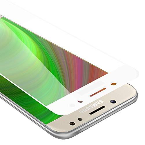 Cadorabo Vollbild Panzer Folie für Samsung Galaxy J5 Prime / ON5 2016 - Schutzfolie in TRANSPARENT mit Weiss – Gehärtetes (Tempered) Bildschirm-Schutzglas in 9H Festigkeit mit 3D Touch Kompatibilität