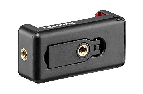 Manfrotto MCLAMP - Attacco Universale per Smartphone, Compatto, Pieghevole, Vlogging, Nero