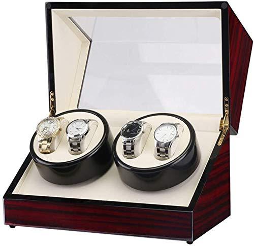 HJJ Uhr-Aufbewahrungsbox/Watch Box - Automatische Shaker Schmuck Aufbewahrungsbox Uhr Tasche Uhr-Anzeigen-Box Vitrine/Betrachtungs-Display-Box (Color : A)
