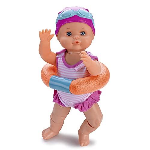 Nenuco - Nadador, este divertido juguete nada como un beb de verdad, mueve sus piernas en el agua, es resistente al agua de baera y piscina, tiene un accesorio churro flotador. FAMOSA (700014071)