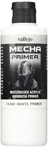 Vallejo Mecha Color - Primer in poliuretano, 200 ml, Bianco (White Primer)