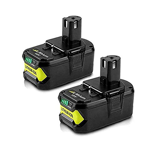 2Pack 6.0Ah 18V Replacement Battery for Ryobi 18V Lithium Battery P102 P103 P105 P107 P108 P109 Ryobi ONE+