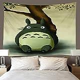 H/H Tapiz 3D My Neighbor Totoro Tapices Mat Manta De Toalla De Playa, Sábana De Playa De Picnic, Boho, Colgante De Pared Decorativo 260(H) X300(An) Cm