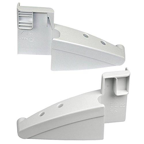 Liebherr Befestigungsklammern für Gefrierschrankregal, rechts und links, Ersatzteil für Kühlschrank, Originalteil