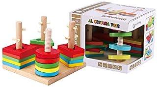 AL OSTOURA Educational Toys Four Sets of Column Wooden